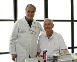 Dr. Massad and his mentor Dr. Frank Schiesser