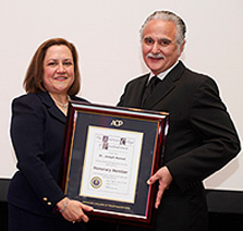 Dr Lily Garcia Welcomes Dr Massad into the American College of Prosthodontics as an Honorary Member.
